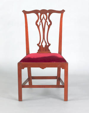 New England Chippendale mahogany dining chair ca 1775