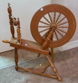 Oak Spinning Wheel