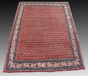 Mir Sarouk Hand Knotted Wool Rug 37 x 51