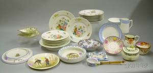 Twentyeight Pieces of Assorted Decorated Ceramic Tableware