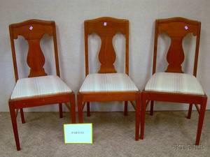 Set of Twelve Mahogany Dining Side Chairs with Upholstered Slip Seats