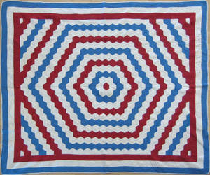 Patriotic patchwork quilt early 20th c