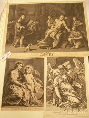 Lot of Fortyfive 17th19th Century French Engravings