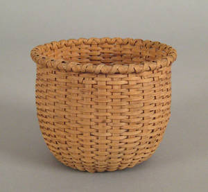 Diminutive splint oak basket 19th c