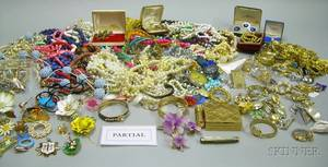 Two Bags of Assorted Vintage and Later Costume Jewelry