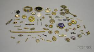 Small Group of Assorted Victorian and Later Costume Jewelry