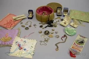 Group of Assorted Victorian and Later Gold and Giltmetal Jewelry