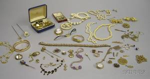 Large Group of Assorted Estate and Costume Jewelry