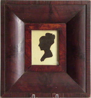 American hollowcut silhouette of a woman