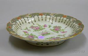 Chinese Export Porcelain Footed Serving Dish