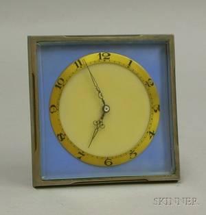 Art Deco Silverframed Boudoir Timepiece