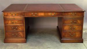 Georgian style mahogany desk