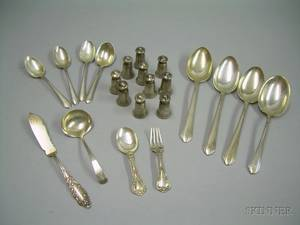Group of Miscellaneous Sterling Silver Flatware and Tableware