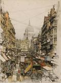 Luigi Kasimir Austrian 18811962 London Fleet Street
