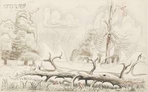 Charles Ephraim Burchfield American 18931967 Fallen Tree