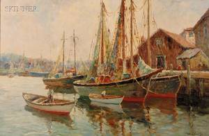 William Ward the Younger British 18291908 Harbor View