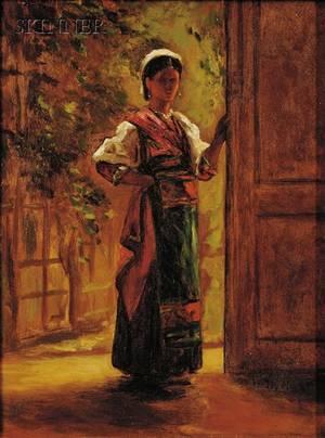 William Morris Hunt American 18241879 Italian Girl