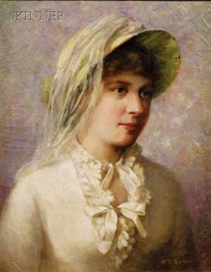 Emma Levinia Swan American 18531927 Girl in Bonnet