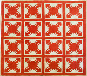 Pennsylvania appliqu Hearts and Gizzards quilt 19th c
