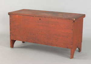 New England pine blanket chest 19th c