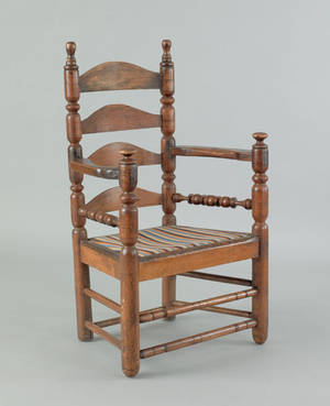 American William  Mary great chair early 18th c