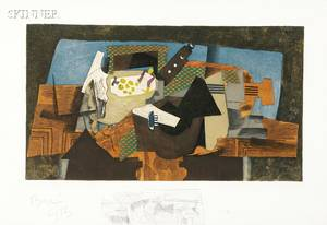 After Georges Braque French 18821963 Georges Visat etcher French b 1910 Nature morte