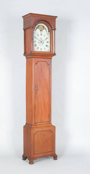 Philadelphia Chippendale mahogany tall case clock ca 1800