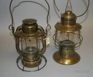 Two Deitz Brass Lanterns