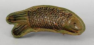 Pennsylvania redware fish mold early 19th c