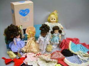 Group of Vintage Madame Alexander Vogue and Assorted Dolls and Accessories