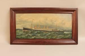 L 19th C Oil on Illustration Board