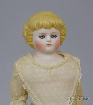 Kling GlassEyed Parian Shoulder Head Doll
