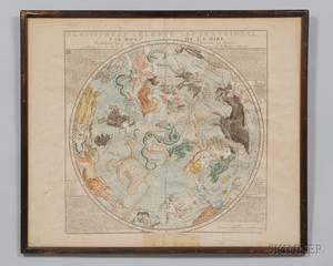 Planesphere Celeste Septentrional Map