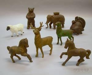 Eight Cast Iron Animal Still Banks