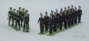 Three Sets of Britains Lead Soldiers