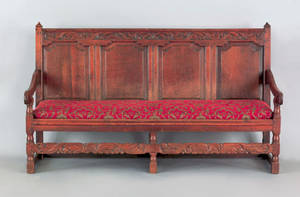 George I oak settle early 18th c