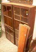 Glazed Stained Pine TwoDoor Cabinet