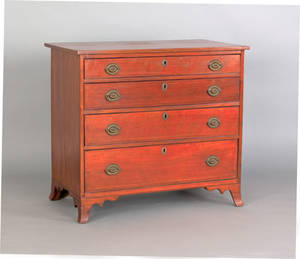 Pennsylvania Federal cherry chest of drawers ca 1800