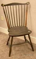 Greenpainted Windsor Fanback Side Chair
