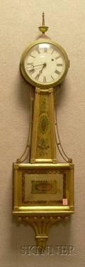 Mahogany Patent Timepiece or Banjo Clock