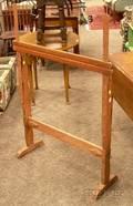 Redpainted Pine Floor Standing Rug Hooking Frame