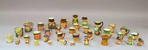 Thirtyseven Small and Miniature Ceramic Toby Jugs and Character Jugs