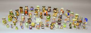 Sixtythree Assorted Small and Miniature Ceramic Toby Jugs and Character Jugs