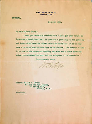 Three William Howard Taft signed typed documents dated April 20 1906 September 15 1908 and April 26 1915