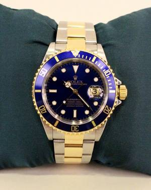 Mens Two Tone Submariner Rolex