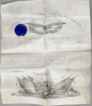 Two Andrew Johnson signed military appointments to William C Church both dated July 24 1867