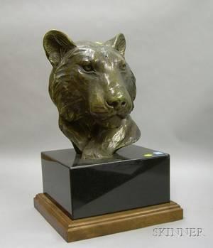 Forest Hart Bronze Bust of a Lion