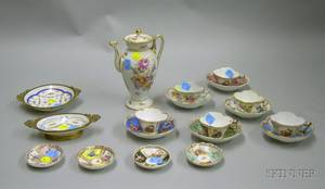 Group of Assorted Continental Decorated Porcelain Tableware