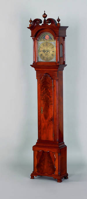 Philadelphia Chippendale walnut tall case clock ca 1770
