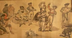 Framed Reproduction Print After Edouard Manet Entitled Le Ballet Espagnol
